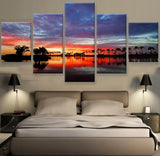 Beautiful Skies during Sunset Sunrise Multi Panel Canvas Wall Art