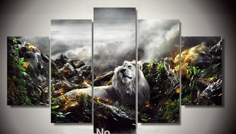 Lion in the Jungle wall art canvas