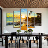 Sunset & Sunrise on Tropical Beach Wall Decor