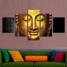 golden thai buddha wall art canvas