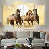 thoroughbred mustang horses wall art canvas