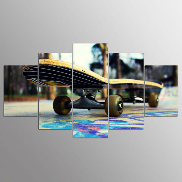 Skateboard at Outdoor Skatepark Wall Art Multi Panel Canvas poster print decor
