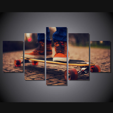 Skateboarder on Skateboard Wall Art Multi Panel Canvas