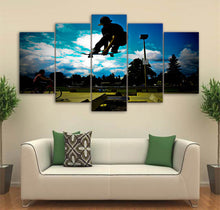Skateboarding at Outdoor Skatepark Wall Art Multi Panel Canvas