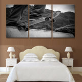 Skateboarding on Half Pipe Wall Art Multi Panel Canvas