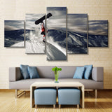 Snowboard Trick Handstand Wall Art Multi Panel Canvas