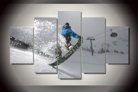 Snowboarding Nose Grab Trick Wall Art Canvas print poster painting decor snowboard
