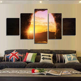 Sunrise from Jesus Tomb Wall Art Print Decor Canvas