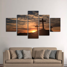 Sunrise from Mount Calvary Golgotha Wall Art Print Poster Decor Canvas 4