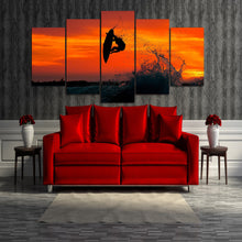 Surfer Trick Air 360 Wall Art Multi Panel Canvas painting poster print decor