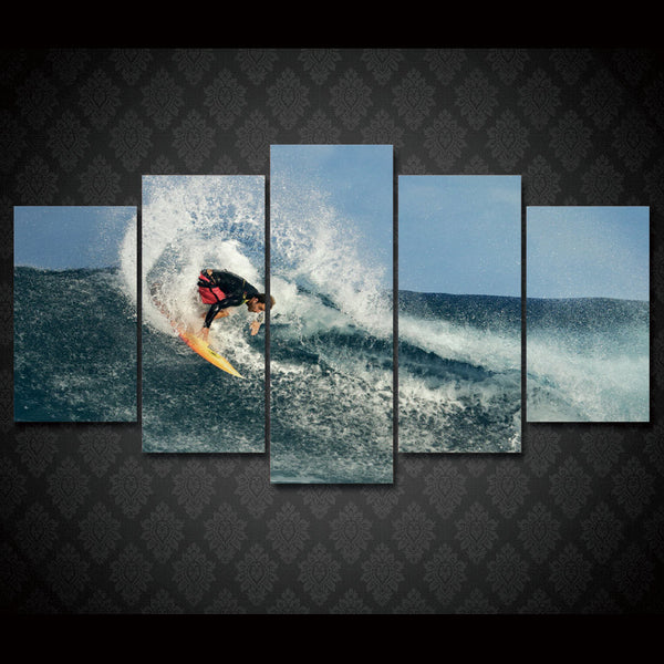 Surfer Trick Snap Slash Layback Wall Art poster print Canvas