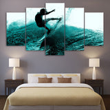 Surfboard Surfing Hitting the Waves Wall Art Multi Panel Canvas painting print poster decor