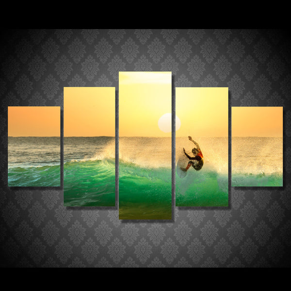 Surfing Trick Tail Slide Wall Art Multi Panel Canvas poster print painting decor