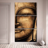ancient thai buddha wall art canvas