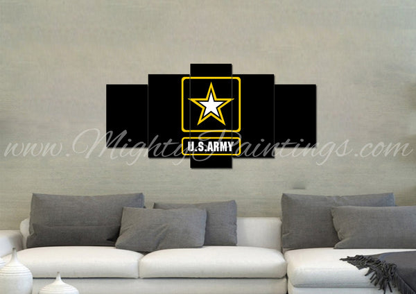 US Army Wall Art Canvas - Army Rangers- Military Art- Patriotic Wall Art- Navy Seals- Army Wall Decor- US Marines