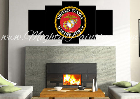 US Marine Corps #2 Wall Art Canvas - Army Rangers- Military Art- Patriotic Wall Art- Navy Seals- Army Wall Decor- US Marines