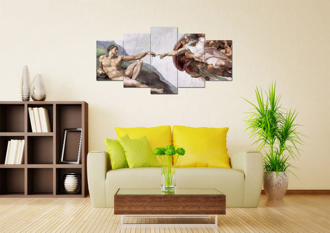 Creation of Adam #2 Multi Panel Canvas Wall Art