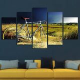 cycling bicycling wall art canvas