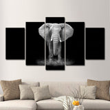 black and white elephant wall art canvas print poster decor 3