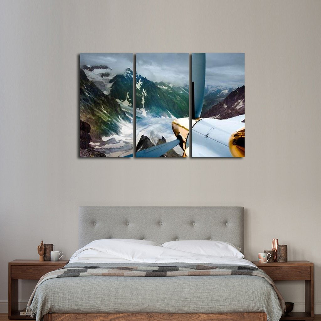 Flying In The Mountains Wall Art Multi Panel Canvas