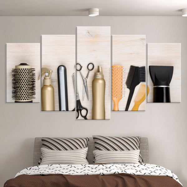 hair salon wall art canvas