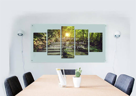 Proverbs 3:6 #2 'He Shall Direct Your Path' Bible Verse on Multi Panel Canvas Wall Art