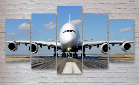 Airbus A380 wall art canvas