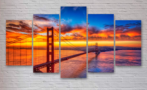 Golden Gate Bridge wall art print canvas
