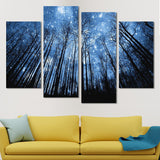 Noctural Skyline wall art canvas