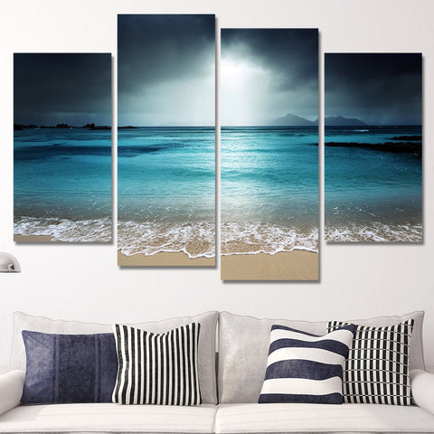 moonlight on beach wall art