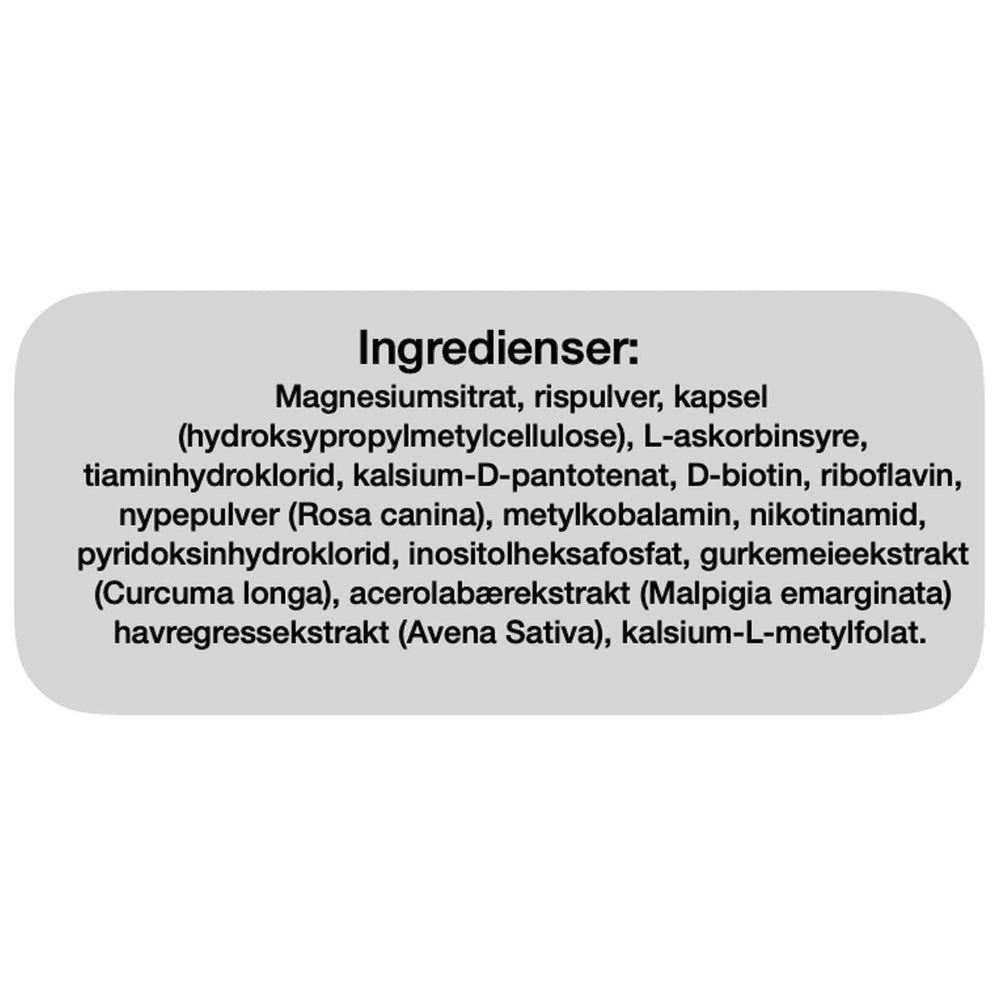 Ingredienser Bio Life Multi B-Kompleks 120