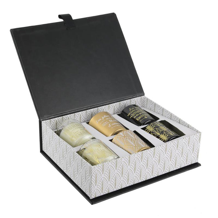 "Coffret 6 bougies ""The Home déco factory"""