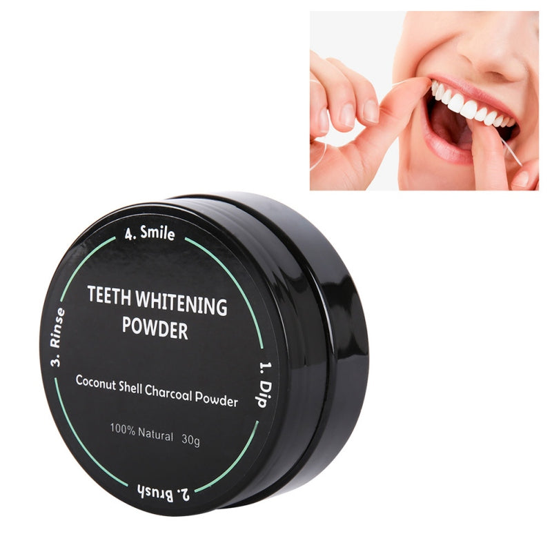 Teeth Whitening  Charcoal Powder Oral Hygiene Cleaning Teeth Plaque Tartar Removal Stains