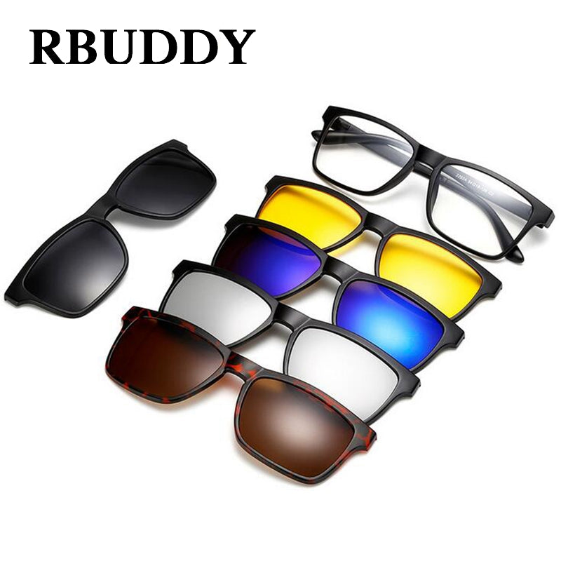 RBUDDY  Magnet clip on sunglasses Driving clear Night vision men & women