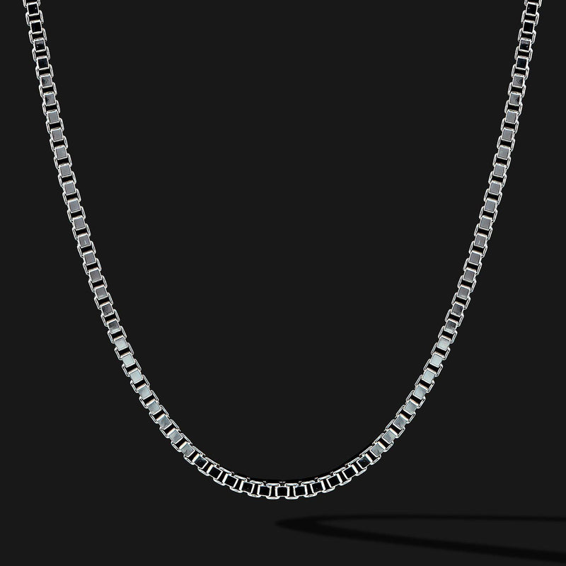Box Silver Chain-Chain-Seekers Luxury-26in - 66cm-Seekers Luxury
