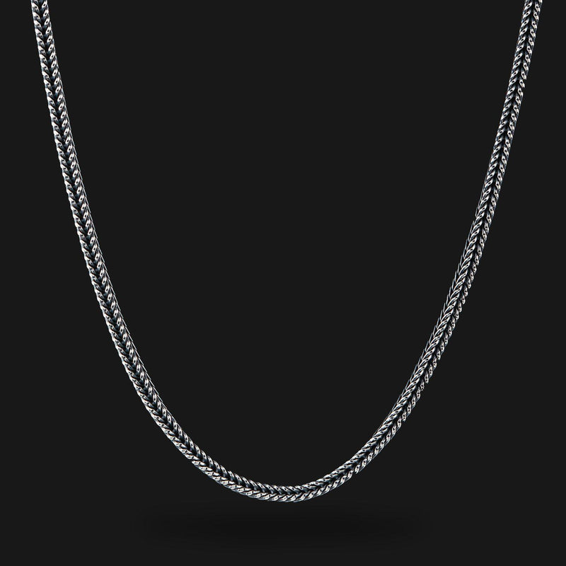 Fox Tail Silver Chain-Chain-Seekers Luxury-26in - 66cm-Seekers Luxury