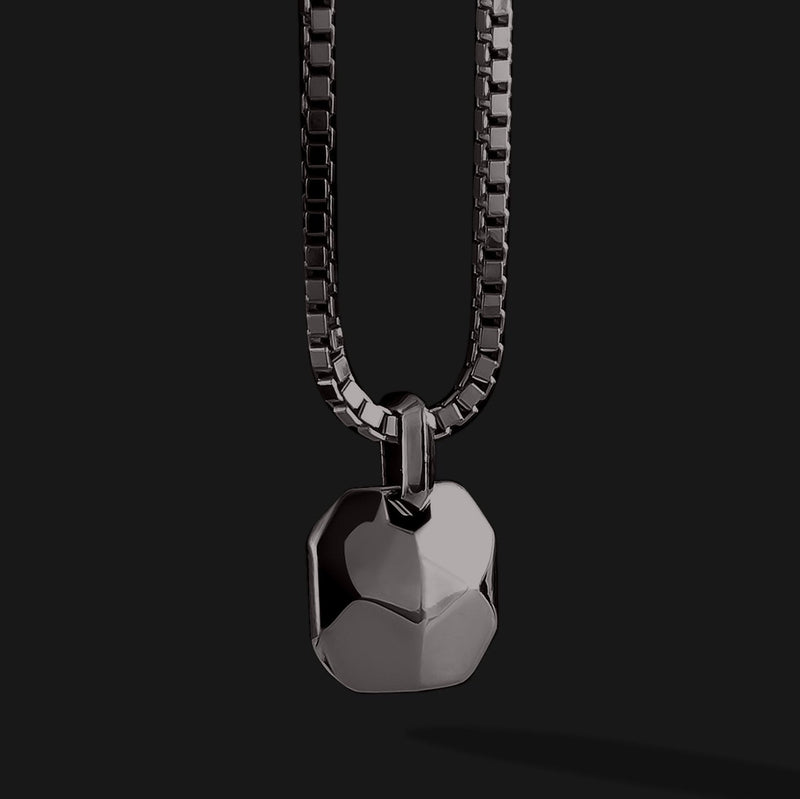 Geom Black Gold Pendant-Pendant-Seekers Luxury-Seekers Luxury