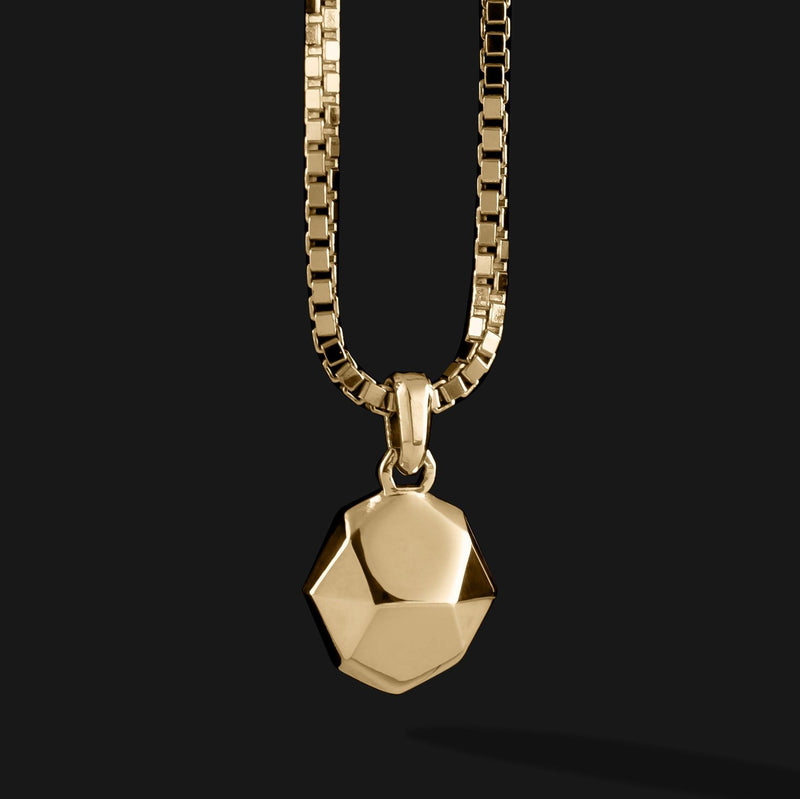 Geom Gold Pendant #2-Pendant-Seekers Luxury-Seekers Luxury