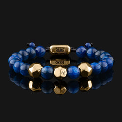 Geom Kyanite Gold Bracelet-Beaded Bracelet-Seekers Luxury-Seekers Luxury