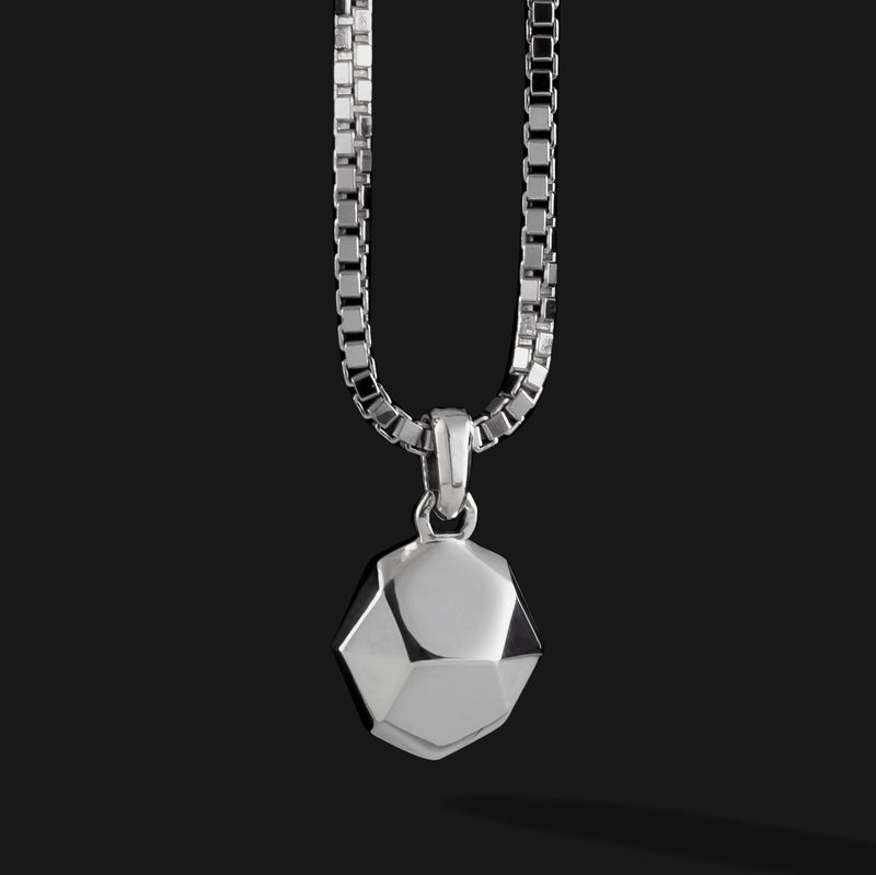 Geom Silver Pendant #2-Pendant-Seekers Luxury-Seekers Luxury