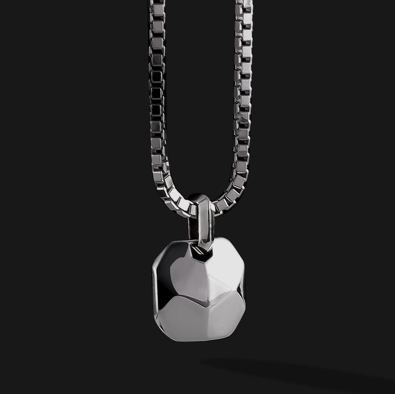 Geom Silver Pendant-Pendant-Seekers Luxury-Seekers Luxury