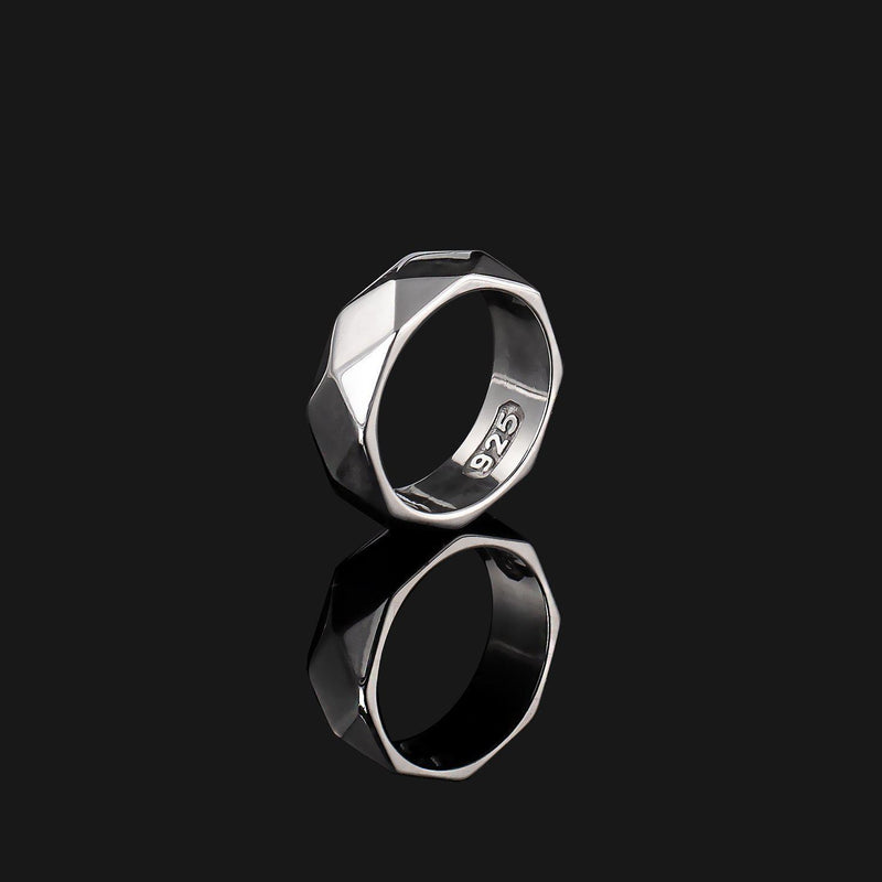 Geom Silver Ring-Ring-Seekers Luxury-Seekers Luxury