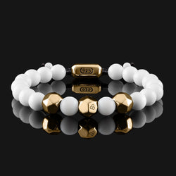 Geom Tridacna Gold Bracelet-Beaded Bracelet-Seekers Luxury-Seekers Luxury