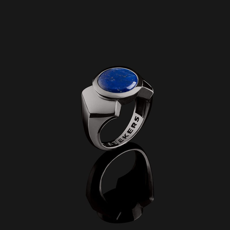 Kudos Black Gold Ring-Ring-Seekers Luxury-9-Lapis Lazuli-Seekers Luxury