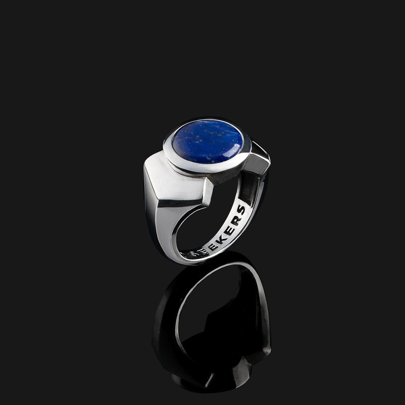 Kudos Silver Ring-Ring-Seekers Luxury-9-Lapis Lazuli-Seekers Luxury