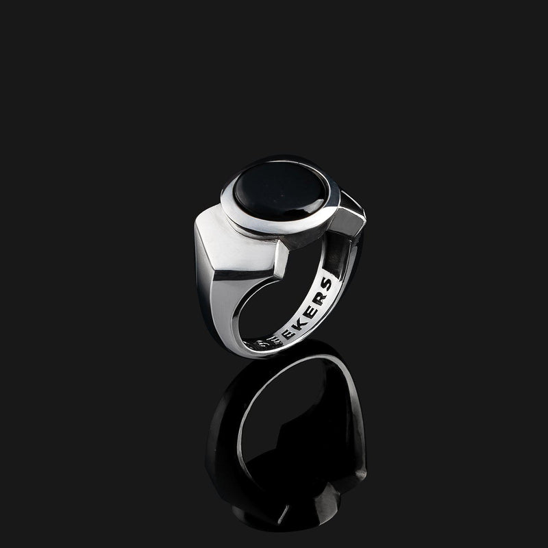 Kudos Silver Ring-Ring-Seekers Luxury-9-Onyx-Seekers Luxury