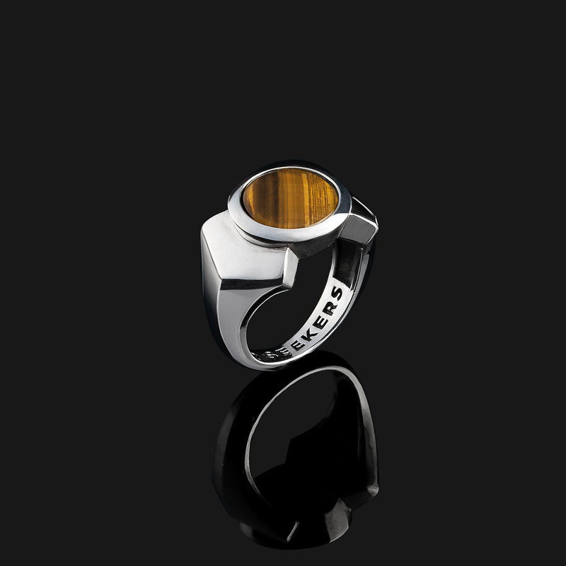 Kudos Silver Ring-Ring-Seekers Luxury-9-Tiger Eye-Seekers Luxury