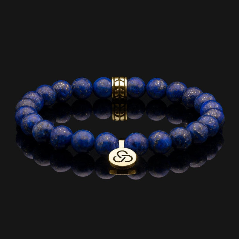 Luxe Lapis Lazuli Gold Bracelet-Beaded Bracelet-Seekers Luxury-Seekers Luxury