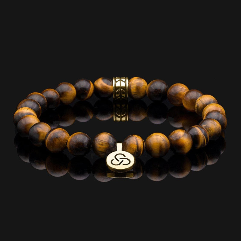 Luxe Tiger Eye Gold Bracelet-Beaded Bracelet-Seekers Luxury-Seekers Luxury