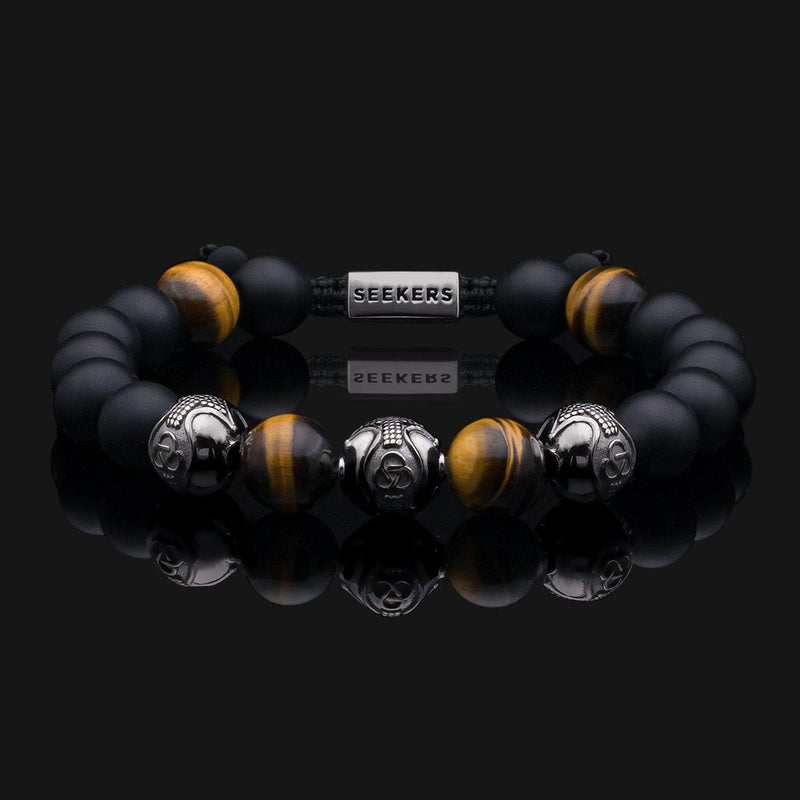 Premium Dragon Black Gold Bracelet-Beaded Bracelet-Seekers Luxury-Seekers Luxury